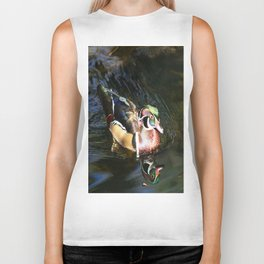 Beautiful Wood Duck Biker Tank