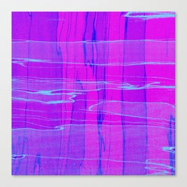 Spalted Purple - Abstract, textured painting Canvas Print