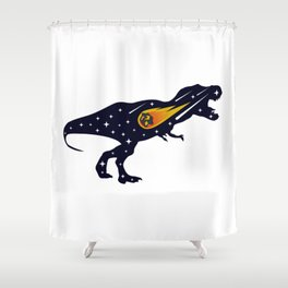 Dinosaur and meteorite strike #society6 #decor #buyart #artprint Shower Curtain