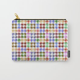 Houndstooth Patchwork of Plaid and Gingham Pattern Carry-All Pouch