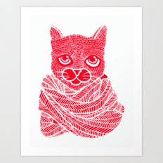 It's a Cat-Wrap Art Print