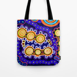 Authentic Aboriginal Art - Yugarabul Gathering Tote Bag