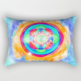 The seed of life - Inflammation Rectangular Pillow
