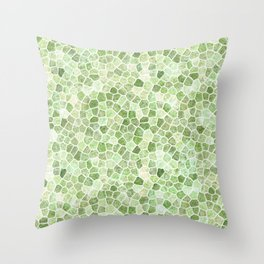 Pale Green Cobbled Patchwork Throw Pillow