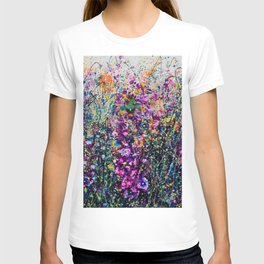 Hollyhock Fantasy Pollock Inspired Abstract T-shirt