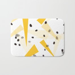 Yellow triangle and black dots Bath Mat