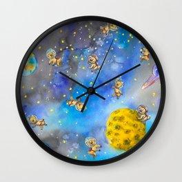 Space Koala watercolor #2 Wall Clock
