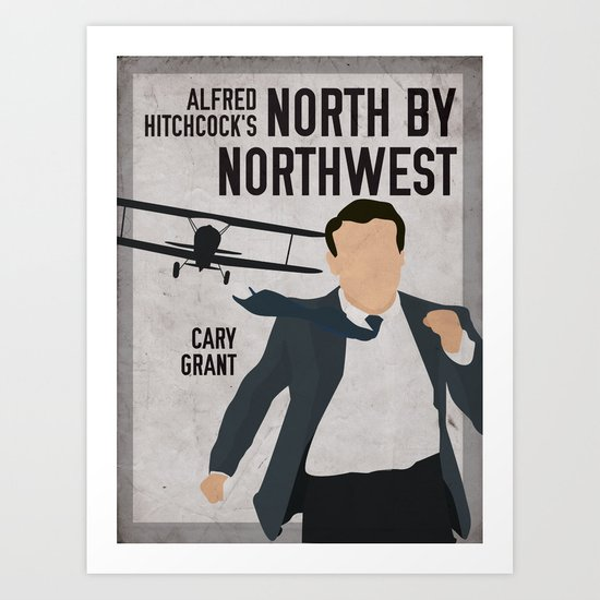 Alfred Hitchcock's North By Northwest Movie Print Art Print