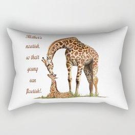 Mothers Giraffe and Calf Rectangular Pillow