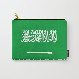 Saudi Arabia country flag name text Carry-All Pouch