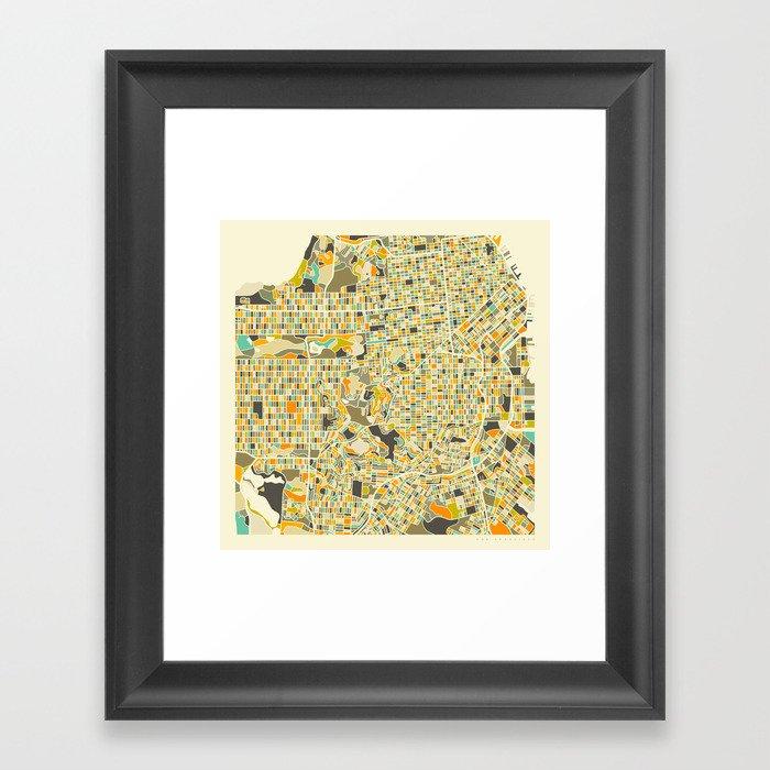 San Francisco Map Framed Art Print by jazzberryblue Society6
