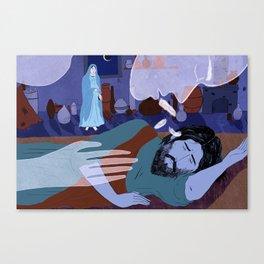 Joseph Sticks with Mary (by Lily Padula) Canvas Print
