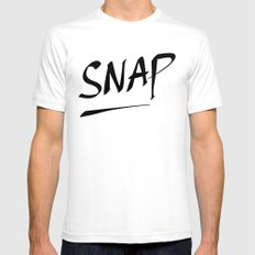 SNAP Mens Fitted Tee White SMALL