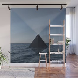 Black Pyramid Wall Mural