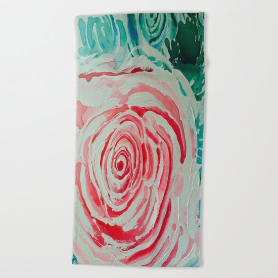 Where the Pink Roses Grow, Summer is Ending and Romantic Fall Nights are Here Beach Towel