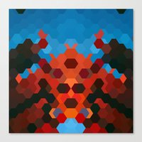 crab Canvas Prints featuring CRAB by ED design for fun