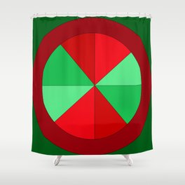 Christmas Wheel Shower Curtain