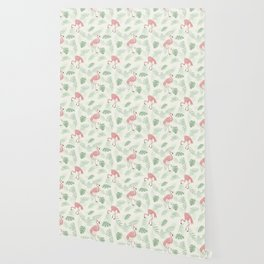 Flamingo Love Tropical Wallpaper