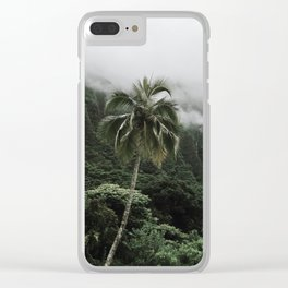 Cloudy Hawaii (1) Clear iPhone Case