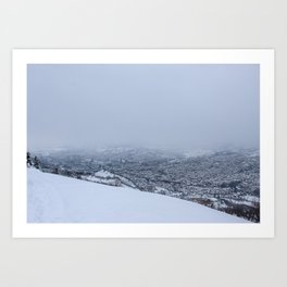 Beautiful view of Sarajevo in winter Art Print