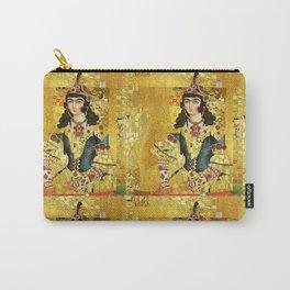 Persian mix: Klimt Qajar Princess Carry-All Pouch