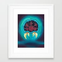 metroid Framed Art Prints featuring Metroid by Katie Clark Art