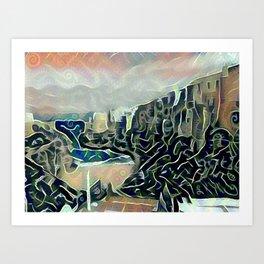 Polignano Art Print