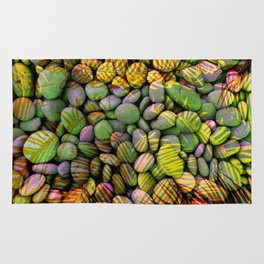 Stones and Palms - Yellow Power Rug