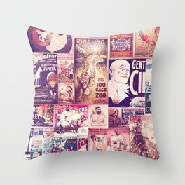 Circus Collage 2 Throw Pillow