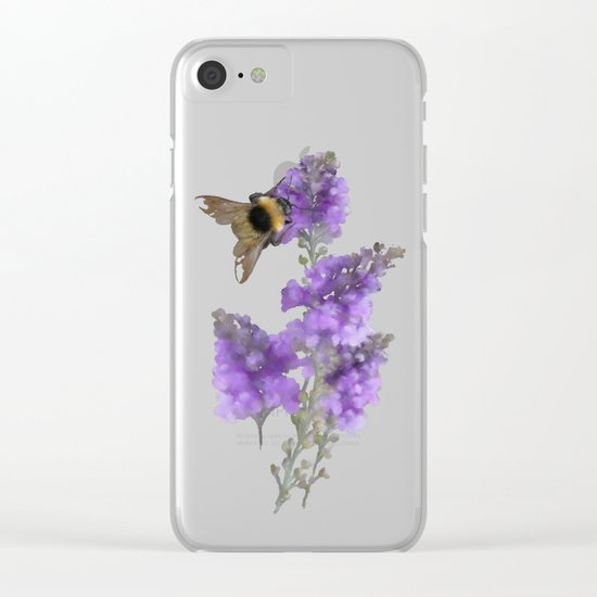 Watercolor Bumble Bee Clear iPhone Case