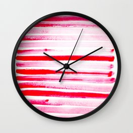 Christmas Candy Cane Red Stripe Wall Clock