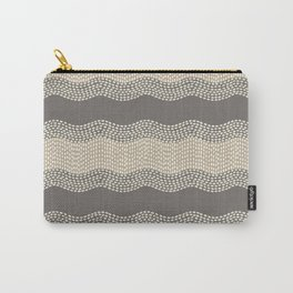 Wavy River III in brown, tan and cream Carry-All Pouch