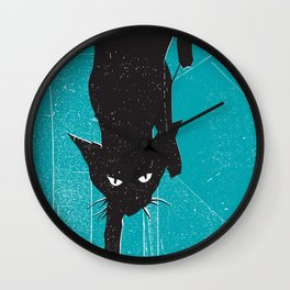 Black Kat Wall Clock
