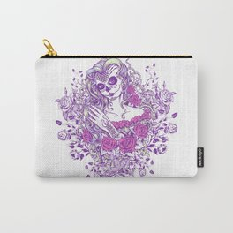 Sexy Woman zombie WITH Flower -  Carla - Vivid Violet - Lavender Carry-All Pouch