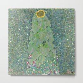 Sunflower by Gustav Klimt, 1907 Metal Print