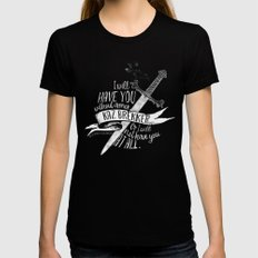 Six of Crows - I will have you MEDIUM Black Womens Fitted Tee