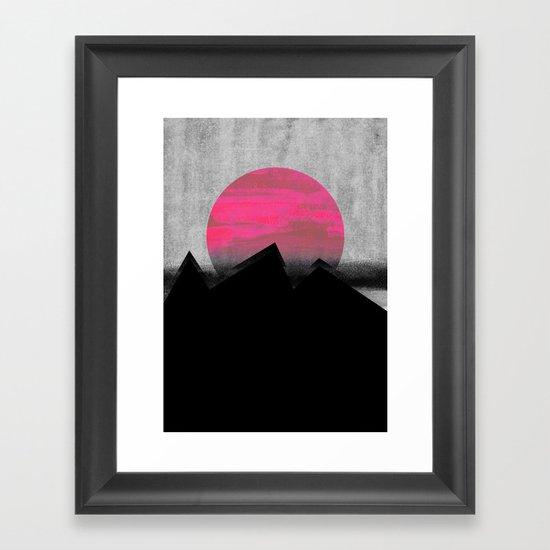 Pink Sun Framed Art Print