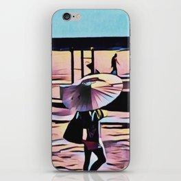So cal walking on beach iPhone Skin