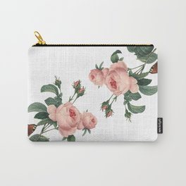 Butterflies in the Rose Garden on White Carry-All Pouch
