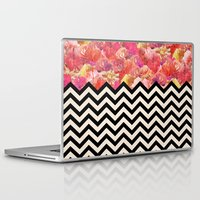 yetiland Laptop & iPad Skins featuring Chevron Flora by Bianca Green