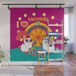 Ernest and Coraline | I love Nevada Wall Mural