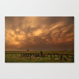 Afterglow - Clouds Glow After Storms at Sunset Canvas Print