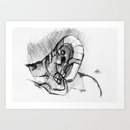 Warbot Sketch #057 Art Print