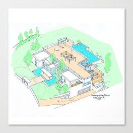 house by tereza del pilar Canvas Print