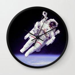 Astronaut on a Spacewalk Wall Clock