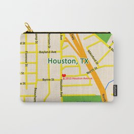 Map of Houston TX #2 Carry-All Pouch