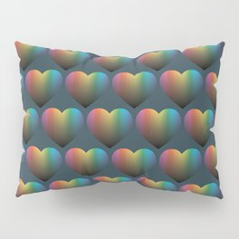 Rainbow Hearts Pillow Sham