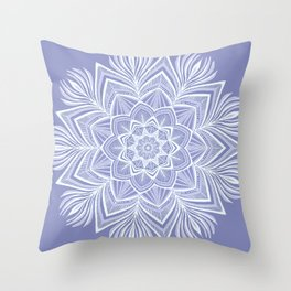 Violet Bloom Crown Chakra Throw Pillow