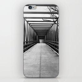Bridge to Nowhere Black and White Photography iPhone Skin