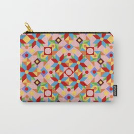 Pink Quilt Design Carry-All Pouch
